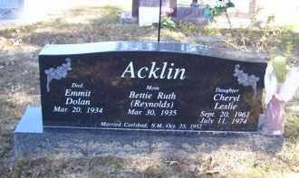 ACKLIN, CHERYL LESLIE - Baxter County, Arkansas | CHERYL LESLIE ACKLIN - Arkansas Gravestone Photos