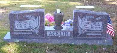 ACKLIN, CHESTER A - Baxter County, Arkansas | CHESTER A ACKLIN - Arkansas Gravestone Photos