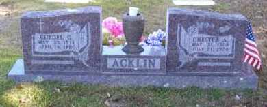 ACKLIN, CORGEL C. - Baxter County, Arkansas | CORGEL C. ACKLIN - Arkansas Gravestone Photos
