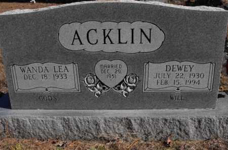 ACKLIN, DEWEY - Baxter County, Arkansas | DEWEY ACKLIN - Arkansas Gravestone Photos