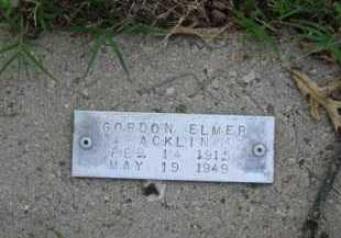 ACKLIN, GORDON ELMER - Baxter County, Arkansas | GORDON ELMER ACKLIN - Arkansas Gravestone Photos