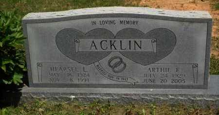 ACKLIN, HEARSEL L. - Baxter County, Arkansas | HEARSEL L. ACKLIN - Arkansas Gravestone Photos