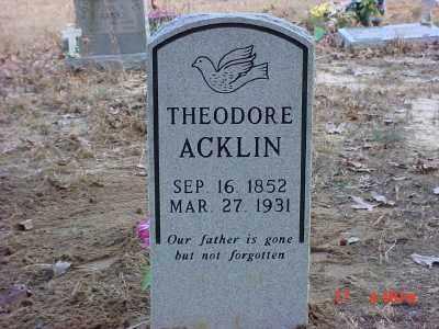 ACKLIN, THEODORE - Baxter County, Arkansas | THEODORE ACKLIN - Arkansas Gravestone Photos