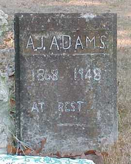ADAMS, A. J. - Baxter County, Arkansas | A. J. ADAMS - Arkansas Gravestone Photos
