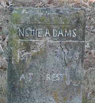 ADAMS, NETTIE - Baxter County, Arkansas | NETTIE ADAMS - Arkansas Gravestone Photos