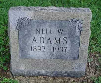 ADAMS, NELL W. - Baxter County, Arkansas | NELL W. ADAMS - Arkansas Gravestone Photos