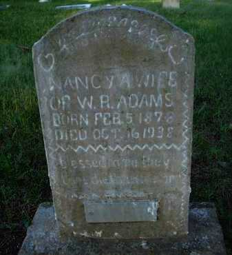 ADAMS, NANCY A. - Baxter County, Arkansas | NANCY A. ADAMS - Arkansas Gravestone Photos
