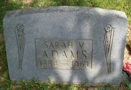ADAMS, SARAH V. - Baxter County, Arkansas | SARAH V. ADAMS - Arkansas Gravestone Photos