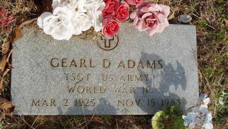 ADAMS (VETERAN WWII), GEARL D - Baxter County, Arkansas | GEARL D ADAMS (VETERAN WWII) - Arkansas Gravestone Photos