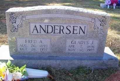 ANDERSEN, FRED A. (OBIT) - Baxter County, Arkansas   FRED A. (OBIT) ANDERSEN - Arkansas Gravestone Photos