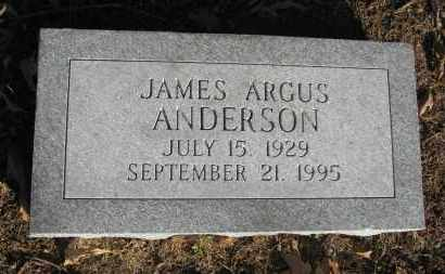 ANDERSON, JAMES ARGUS - Baxter County, Arkansas | JAMES ARGUS ANDERSON - Arkansas Gravestone Photos