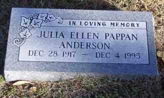 PAPPAN ANDERSON, JULIA ELLEN - Baxter County, Arkansas | JULIA ELLEN PAPPAN ANDERSON - Arkansas Gravestone Photos