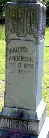 ANDERSON, MALINDA J. - Baxter County, Arkansas | MALINDA J. ANDERSON - Arkansas Gravestone Photos