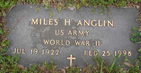 ANGLIN (VETERAN WWII), MILES H - Baxter County, Arkansas | MILES H ANGLIN (VETERAN WWII) - Arkansas Gravestone Photos