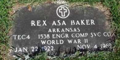 BAKER  (VETERAN WWII), REX ASA - Baxter County, Arkansas | REX ASA BAKER  (VETERAN WWII) - Arkansas Gravestone Photos