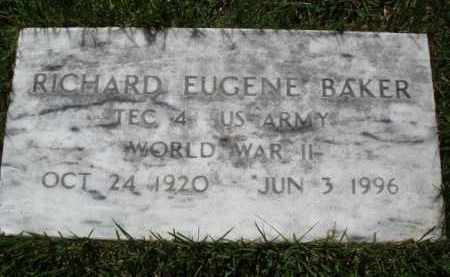 BAKER  (VETERAN WWII), RICHARD EUGENE - Baxter County, Arkansas | RICHARD EUGENE BAKER  (VETERAN WWII) - Arkansas Gravestone Photos