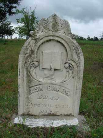 BAKER, JEREMIAH ASA - Baxter County, Arkansas | JEREMIAH ASA BAKER - Arkansas Gravestone Photos