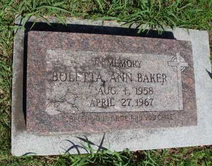 BAKER, BOLETTA ANN - Baxter County, Arkansas | BOLETTA ANN BAKER - Arkansas Gravestone Photos