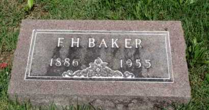 BAKER, F. H. - Baxter County, Arkansas | F. H. BAKER - Arkansas Gravestone Photos