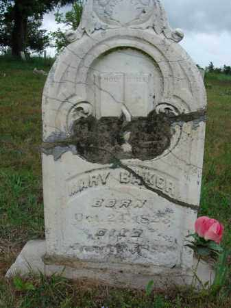 BUGG BAKER, MARY - Baxter County, Arkansas | MARY BUGG BAKER - Arkansas Gravestone Photos