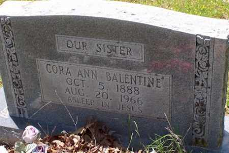 BALENTINE, CORA ANN - Baxter County, Arkansas | CORA ANN BALENTINE - Arkansas Gravestone Photos