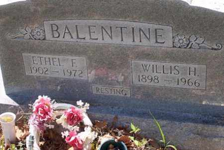 BALENTINE, WILLIS H - Baxter County, Arkansas | WILLIS H BALENTINE - Arkansas Gravestone Photos