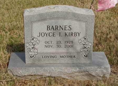 KIRBY BARNES, JOYCE I - Baxter County, Arkansas | JOYCE I KIRBY BARNES - Arkansas Gravestone Photos