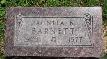 BARNETT, JAUNITA B. - Baxter County, Arkansas | JAUNITA B. BARNETT - Arkansas Gravestone Photos
