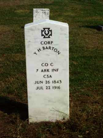 BARTON (VETERAN CSA), Y H - Baxter County, Arkansas | Y H BARTON (VETERAN CSA) - Arkansas Gravestone Photos