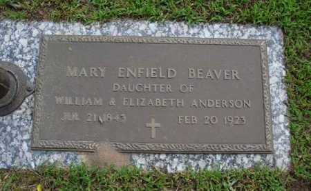 ANDERSON BEAVER, MARY ENFIELD - Baxter County, Arkansas | MARY ENFIELD ANDERSON BEAVER - Arkansas Gravestone Photos