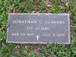BEAVERS (VETERAN), JONATHAN CALLOWAY - Baxter County, Arkansas | JONATHAN CALLOWAY BEAVERS (VETERAN) - Arkansas Gravestone Photos