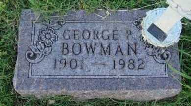 BOWMAN, GEORGE P. - Baxter County, Arkansas | GEORGE P. BOWMAN - Arkansas Gravestone Photos