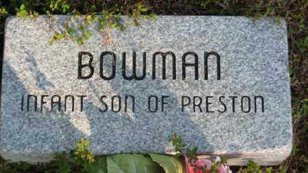 BOWMAN, INFANT SON - Baxter County, Arkansas | INFANT SON BOWMAN - Arkansas Gravestone Photos