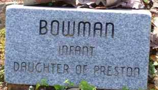 BOWMAN, INFANT DAUGHTER - Baxter County, Arkansas | INFANT DAUGHTER BOWMAN - Arkansas Gravestone Photos