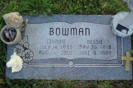 BOWMAN, JOHNNIE - Baxter County, Arkansas | JOHNNIE BOWMAN - Arkansas Gravestone Photos