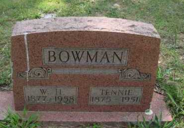 BOWMAN, W. H. - Baxter County, Arkansas | W. H. BOWMAN - Arkansas Gravestone Photos
