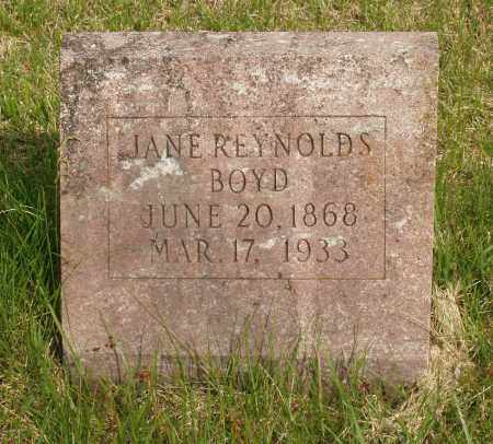 REYNOLDS BOYD, JANE - Baxter County, Arkansas | JANE REYNOLDS BOYD - Arkansas Gravestone Photos