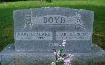 "BOYD, J. ARLIE ""SNOOKS"" - Baxter County, Arkansas 