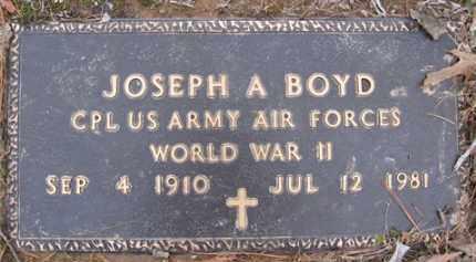 BOYD (VETERAN), JOSEPH ARLIE - Baxter County, Arkansas | JOSEPH ARLIE BOYD (VETERAN) - Arkansas Gravestone Photos