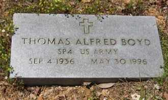 BOYD (VETERAN), THOMAS ALFRED - Baxter County, Arkansas | THOMAS ALFRED BOYD (VETERAN) - Arkansas Gravestone Photos