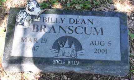 BRANSCUM, BILLY DEAN - Baxter County, Arkansas | BILLY DEAN BRANSCUM - Arkansas Gravestone Photos