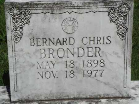 BRONDER, BERNARD CHRIS - Baxter County, Arkansas | BERNARD CHRIS BRONDER - Arkansas Gravestone Photos