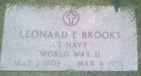BROOKS  (VETERAN WWII), LEONARD E. - Baxter County, Arkansas | LEONARD E. BROOKS  (VETERAN WWII) - Arkansas Gravestone Photos