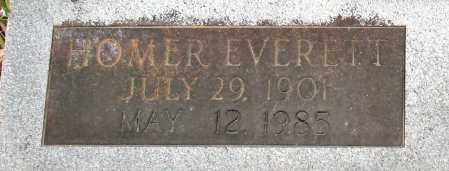 BROWN, HOMER EVERETT (CLOSE UP) - Baxter County, Arkansas | HOMER EVERETT (CLOSE UP) BROWN - Arkansas Gravestone Photos