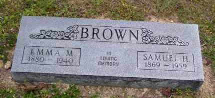 BROWN, SAMUEL H - Baxter County, Arkansas | SAMUEL H BROWN - Arkansas Gravestone Photos