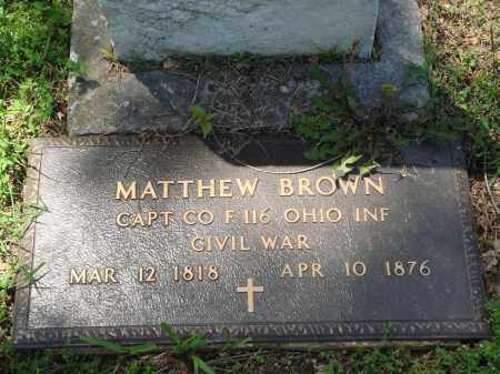 BROWN (VETERAN CSA), MATTHEW - Baxter County, Arkansas | MATTHEW BROWN (VETERAN CSA) - Arkansas Gravestone Photos