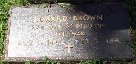 BROWN (VETERAN UNION), EDWARD - Baxter County, Arkansas | EDWARD BROWN (VETERAN UNION) - Arkansas Gravestone Photos