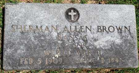 BROWN (VETERAN WWII), SHERMAN ALLEN - Baxter County, Arkansas | SHERMAN ALLEN BROWN (VETERAN WWII) - Arkansas Gravestone Photos