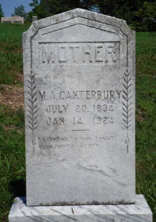 CANTERBURY, M. A. - Baxter County, Arkansas | M. A. CANTERBURY - Arkansas Gravestone Photos