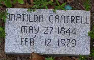 MCFALL CANTRELL, MATILDA - Baxter County, Arkansas | MATILDA MCFALL CANTRELL - Arkansas Gravestone Photos